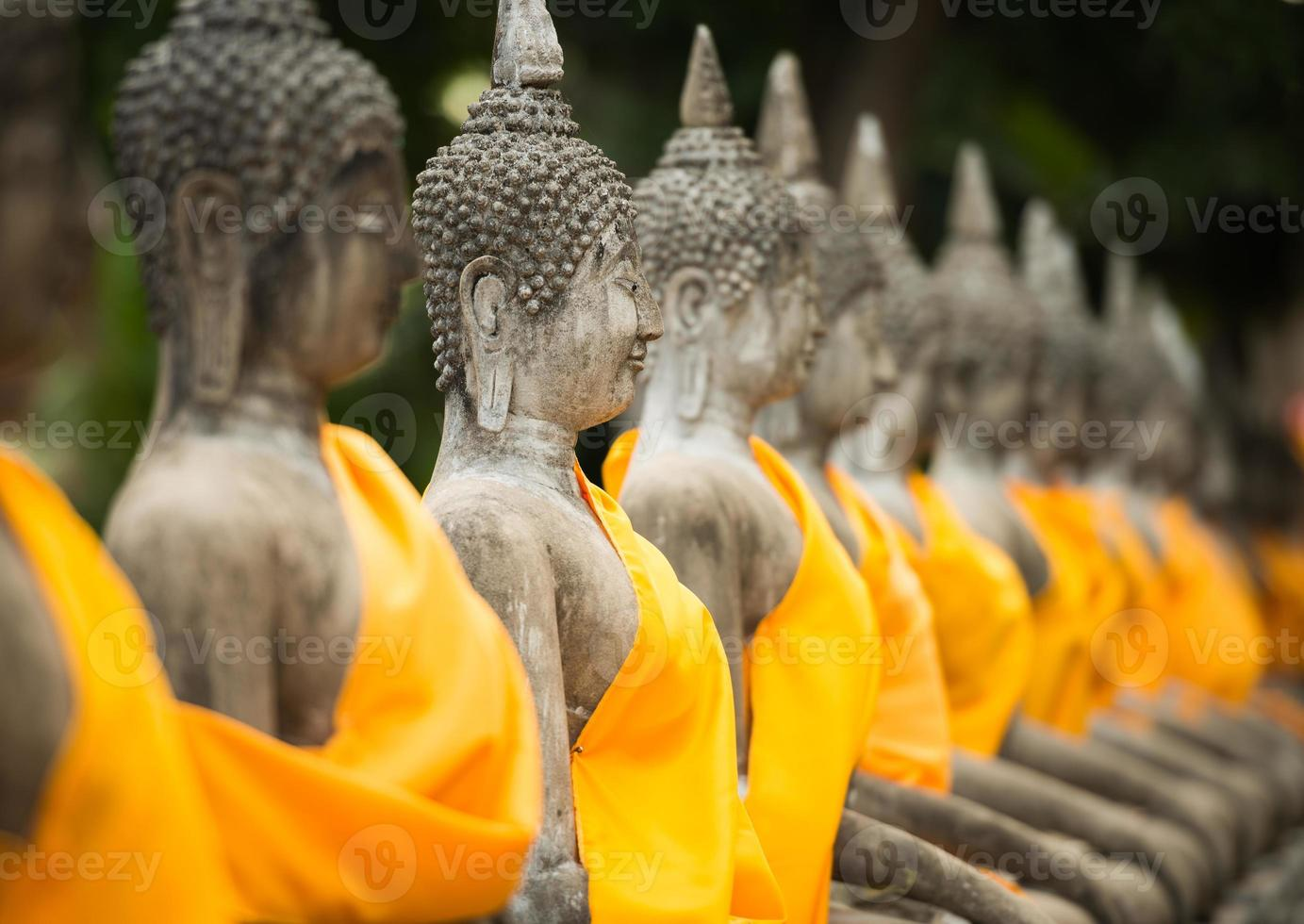 old Buddha statue in temple at Ayutthaya photo