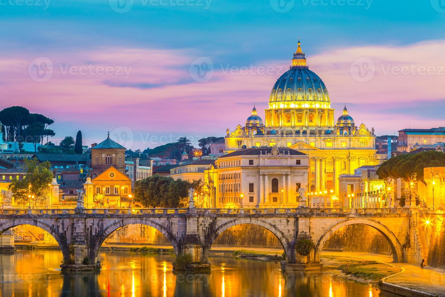 View at St. Peter's cathedral in Rome, Italy photo