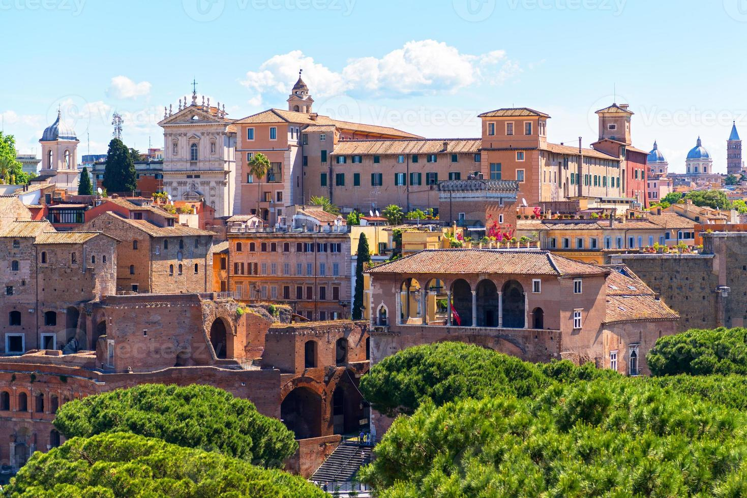 Cityscape of Rome, Italy photo