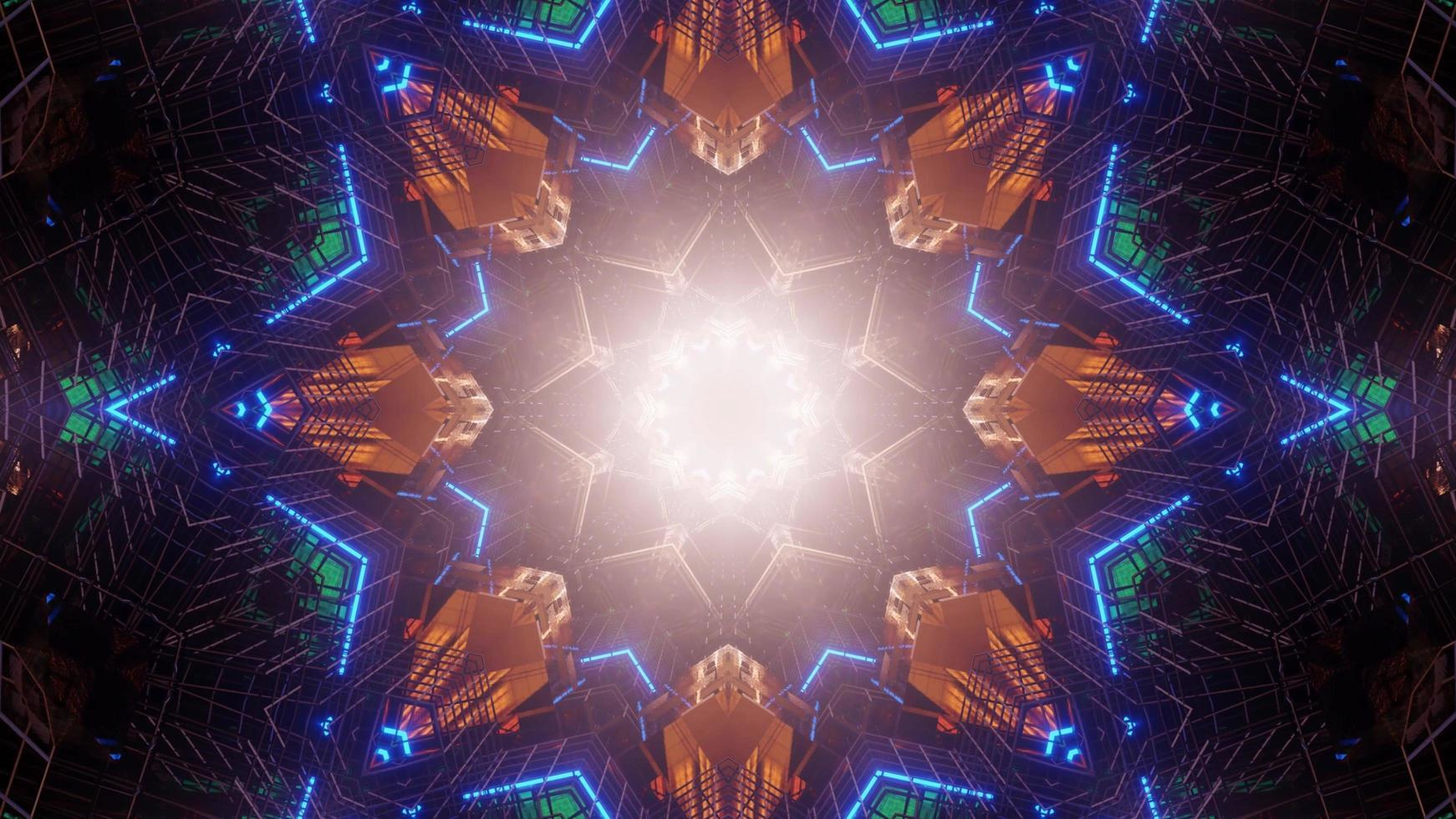 Futuristic sci-fi wallpaper background photo