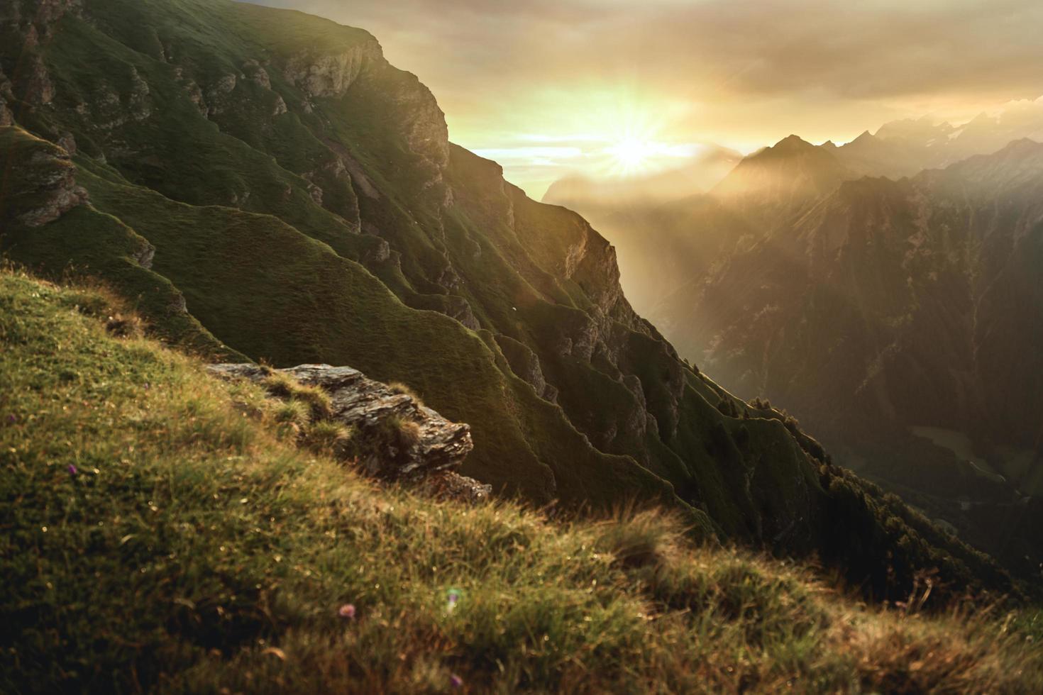 Mountains during dawn photo