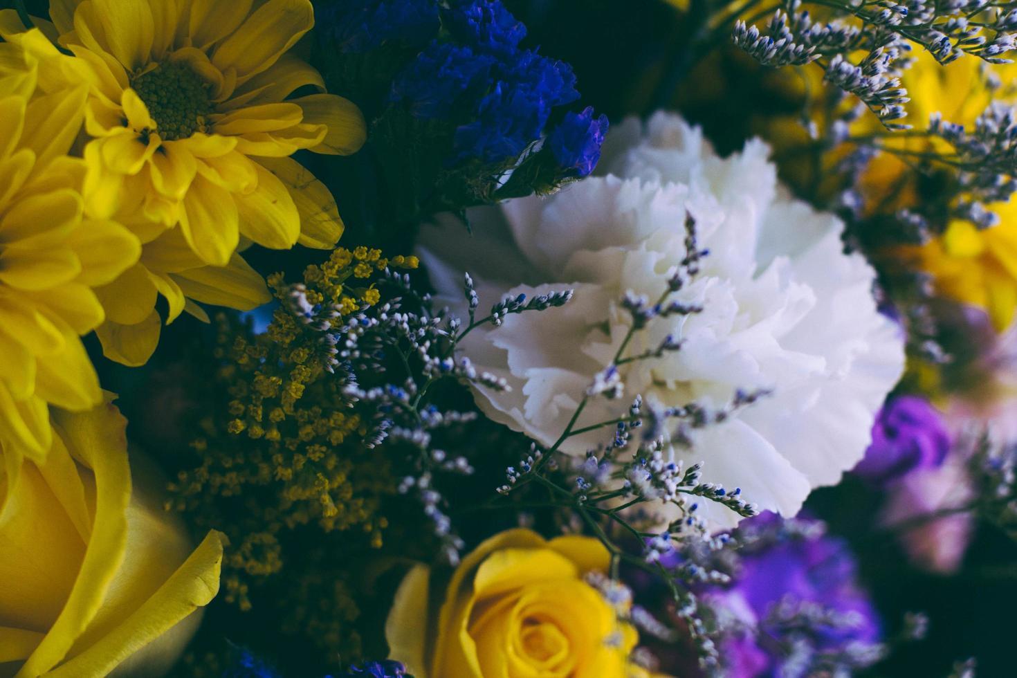 ramo de flores de varios colores foto
