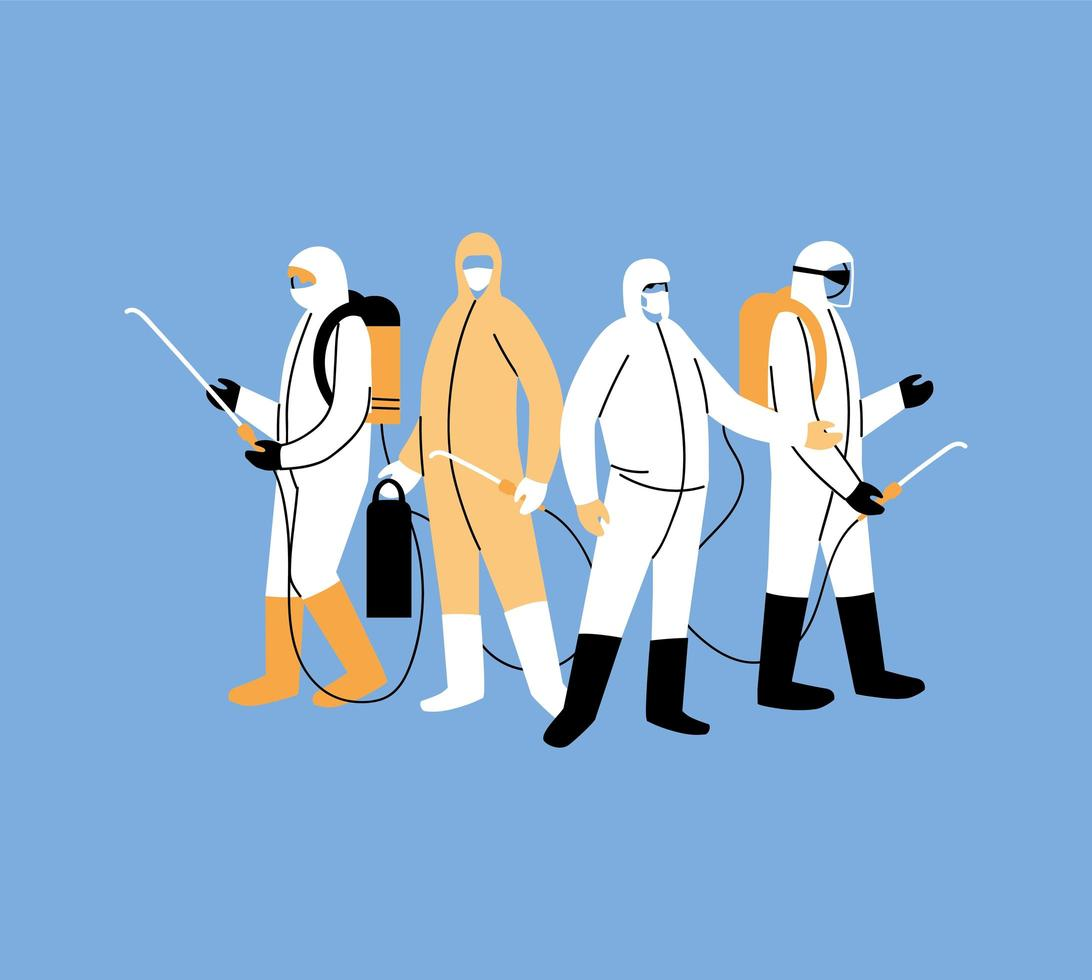Men wear protective suit vector