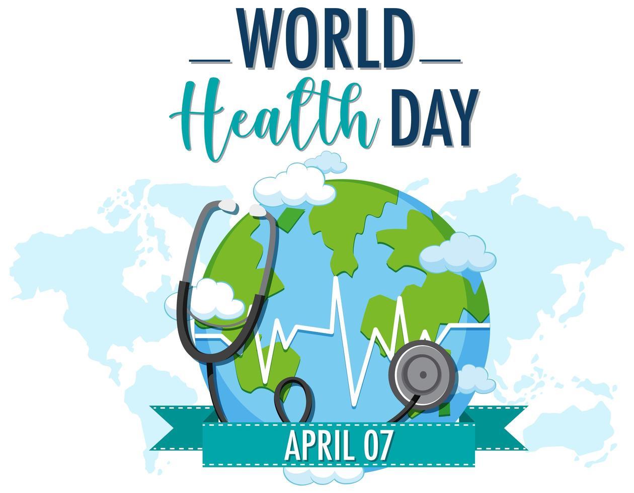 Día mundial de la salud vector