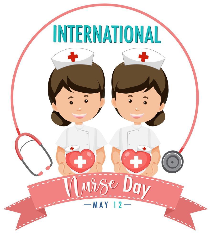 dia internacional de la enfermera vector