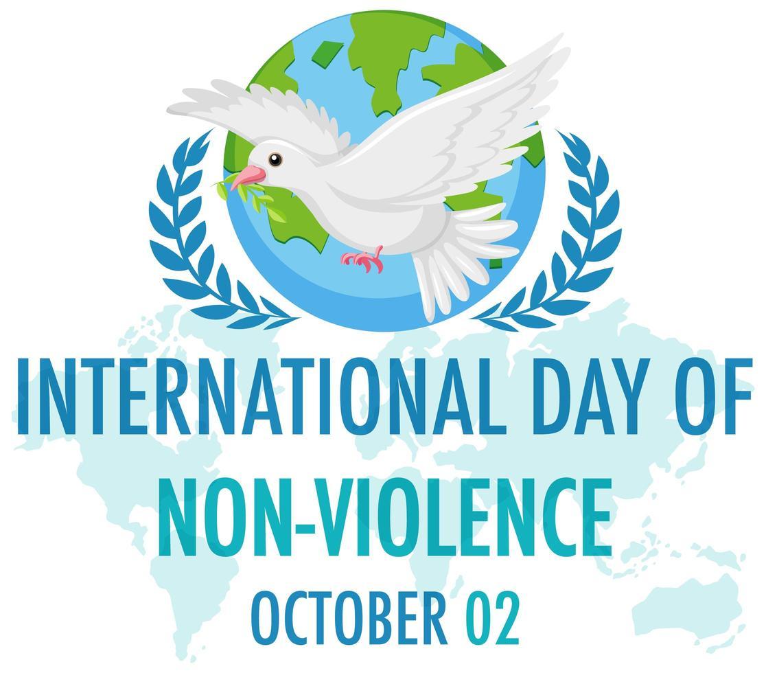 dia internacional de la no violencia vector