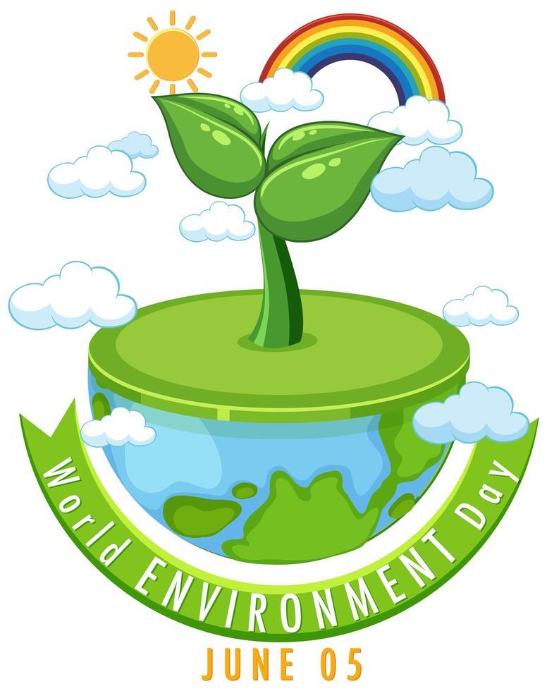 icono del día mundial del medio ambiente vector