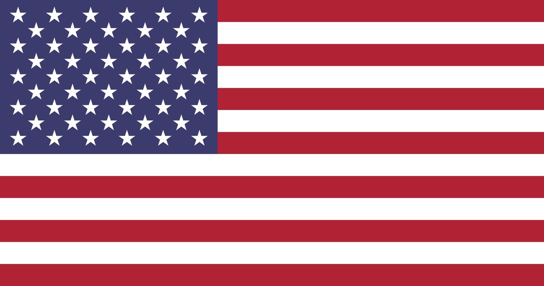 bandera de estados unidos aislado vector