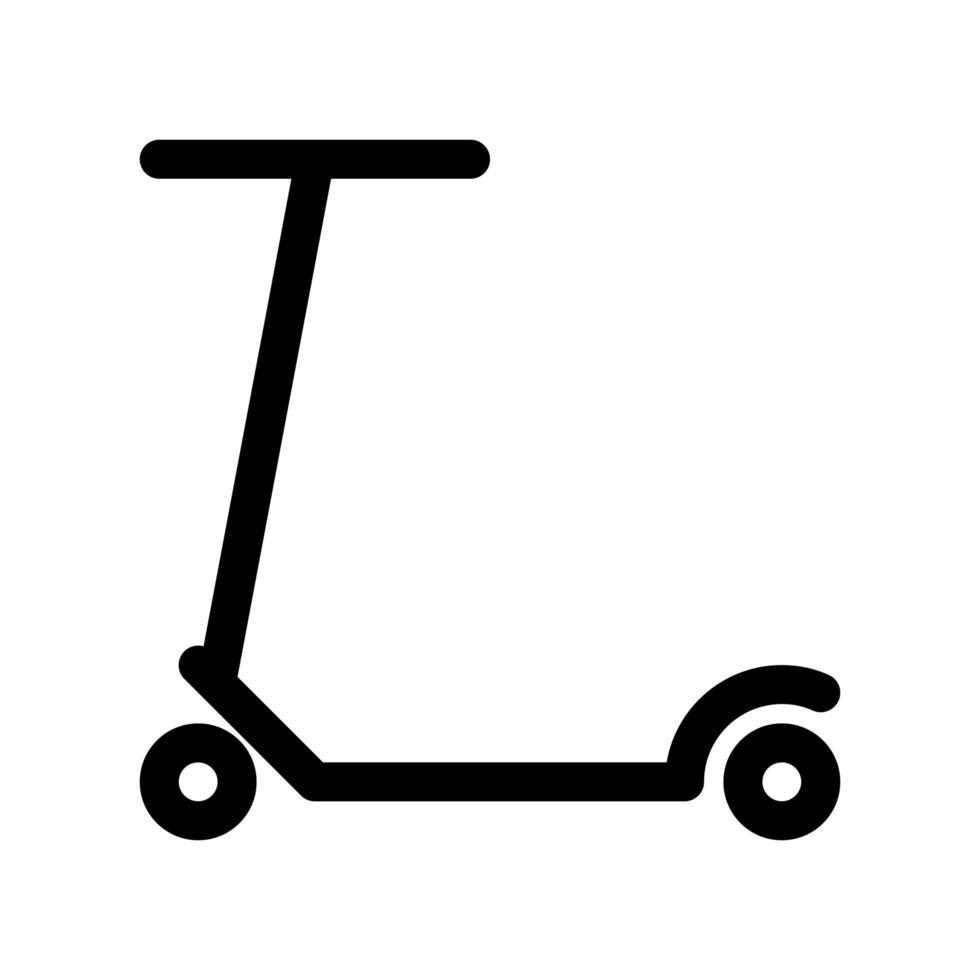 icono de esbozo de scooter vector