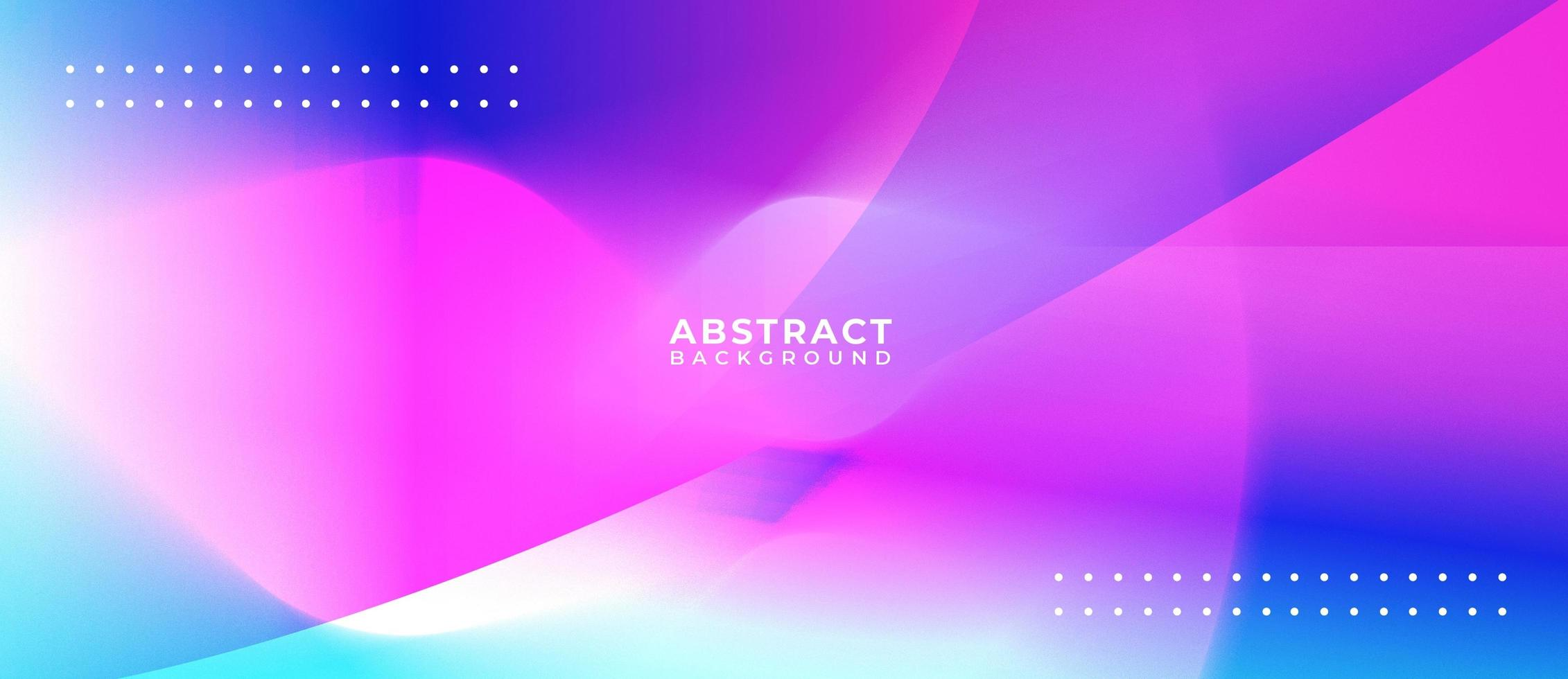 Overlapping Brights Shapes Abstract Background Banner vector