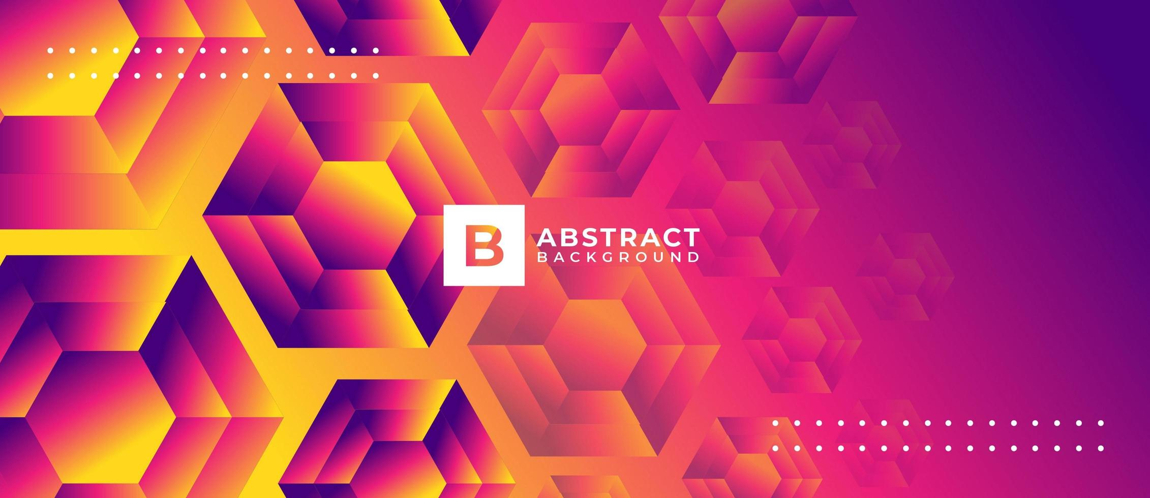 Geometric Orange and Pink Polygon Shape Abstract Background vector