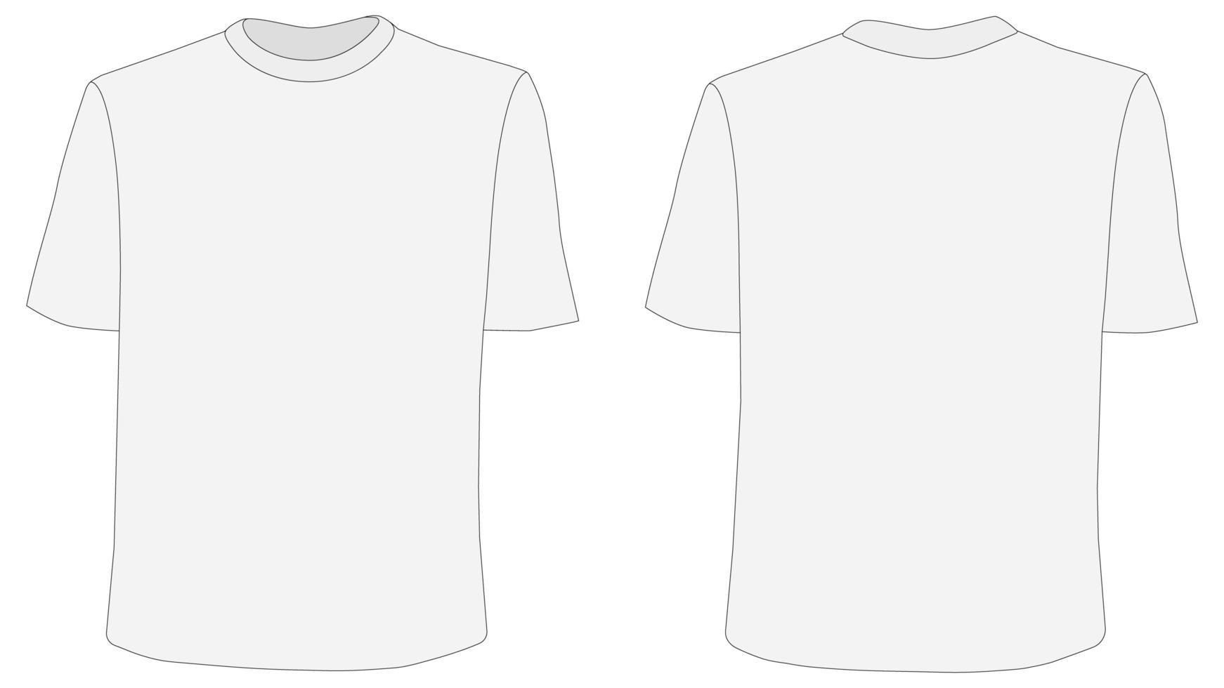 maqueta de camiseta, anverso y reverso vector