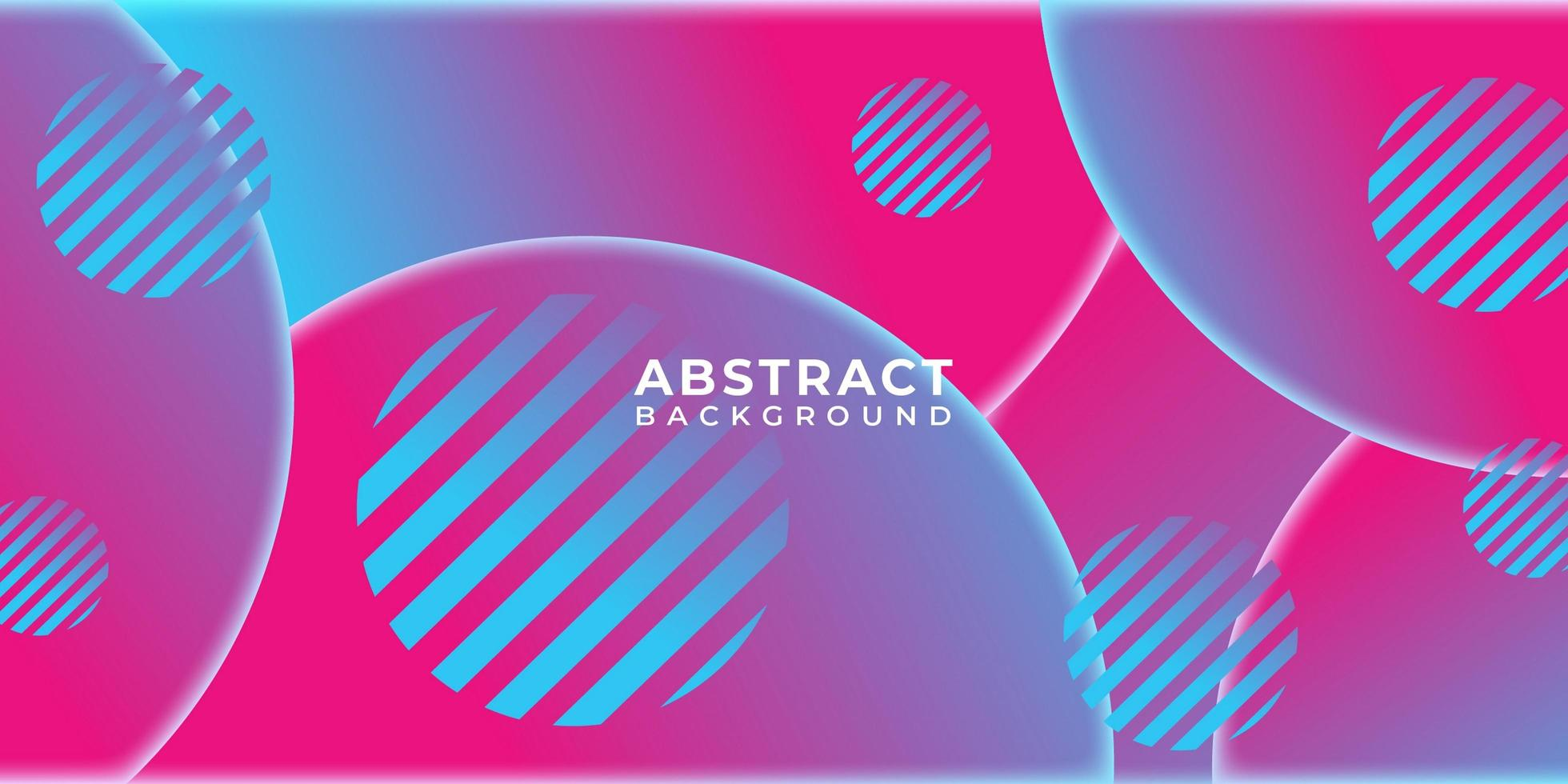 Overlapping Circular Neon Pink Shapes Background vector