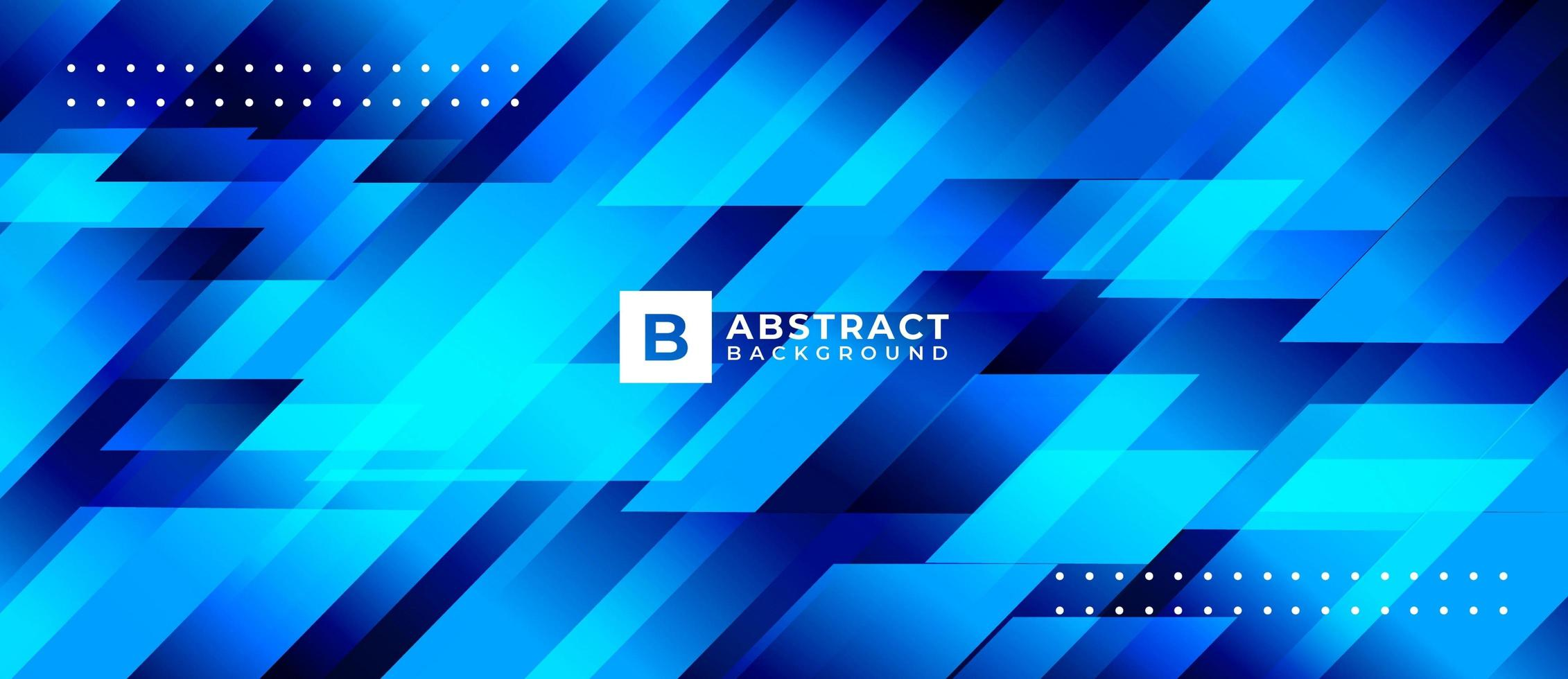 Blue Geometric Shape Abstract Background vector