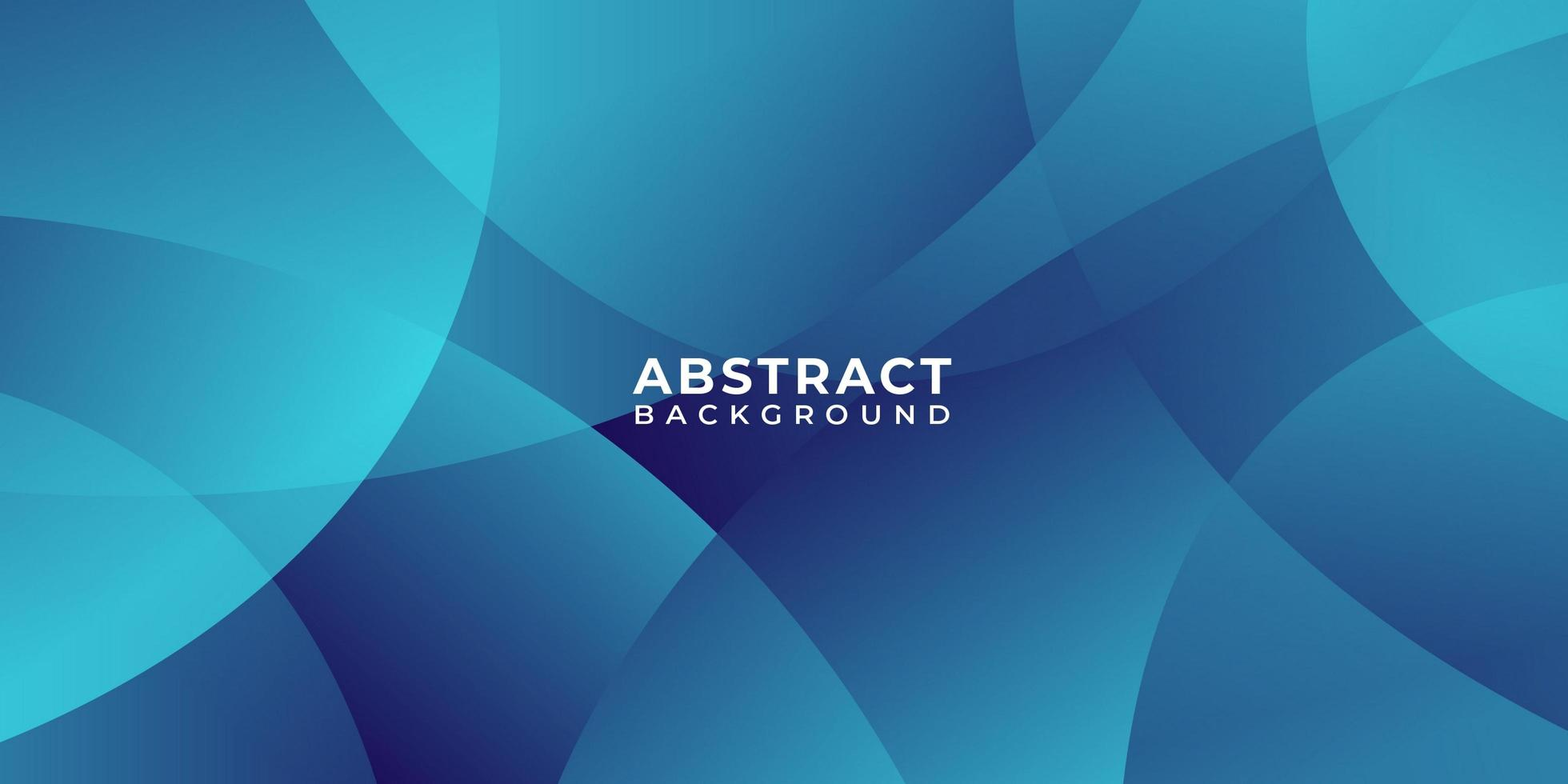 Overlapping Circles Blue Abstract Background vector