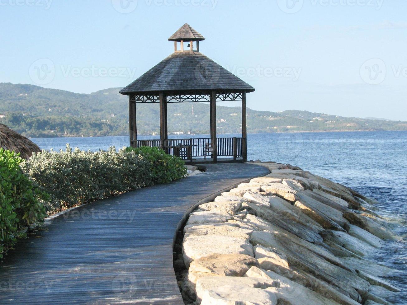 Lookout onto Montego Bay, Jamaica photo