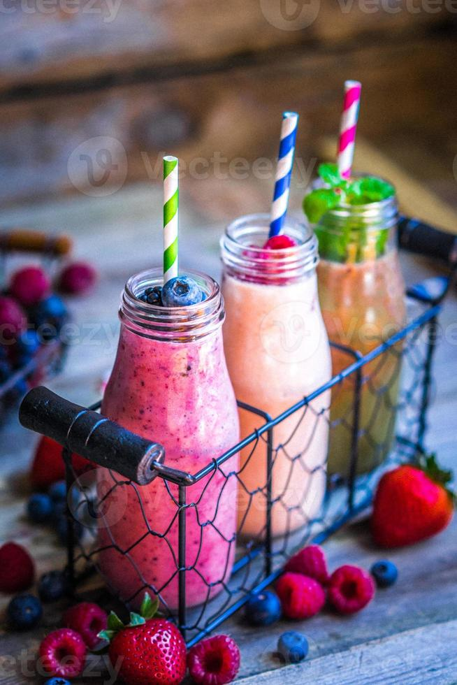 Fresh smoothies photo