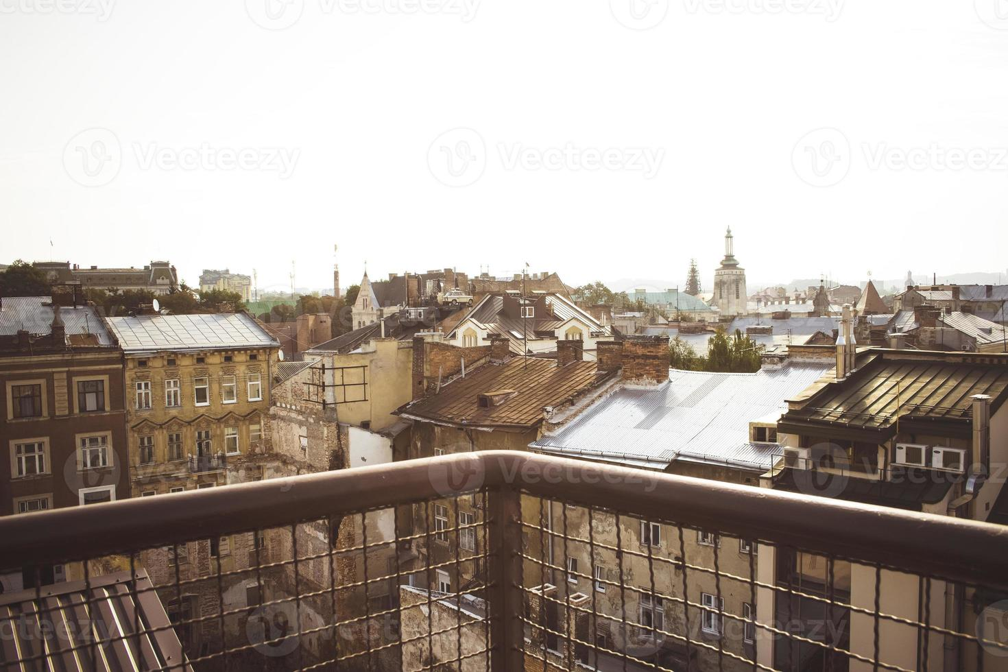View from the balcony on Lviv photo