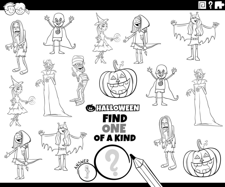 tarea única con personajes de halloween vector