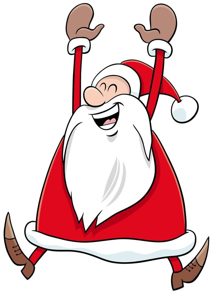 feliz personaje de dibujos animados de santa claus en navidad vector