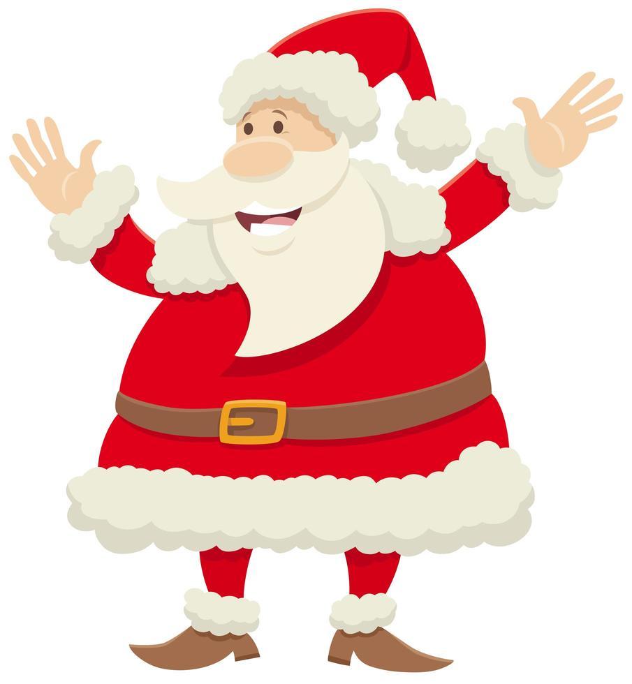 personaje de dibujos animados de santa claus celebrando la navidad vector