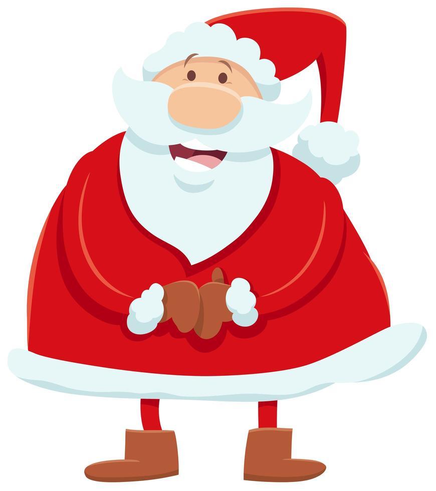 personaje de dibujos animados de santa claus en navidad vector