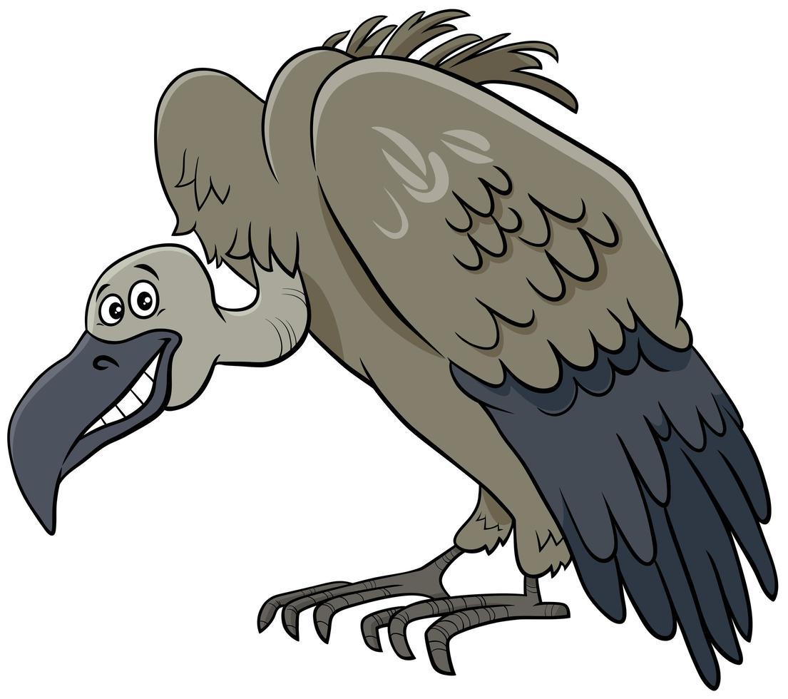 buitre pájaro animal personaje de dibujos animados vector