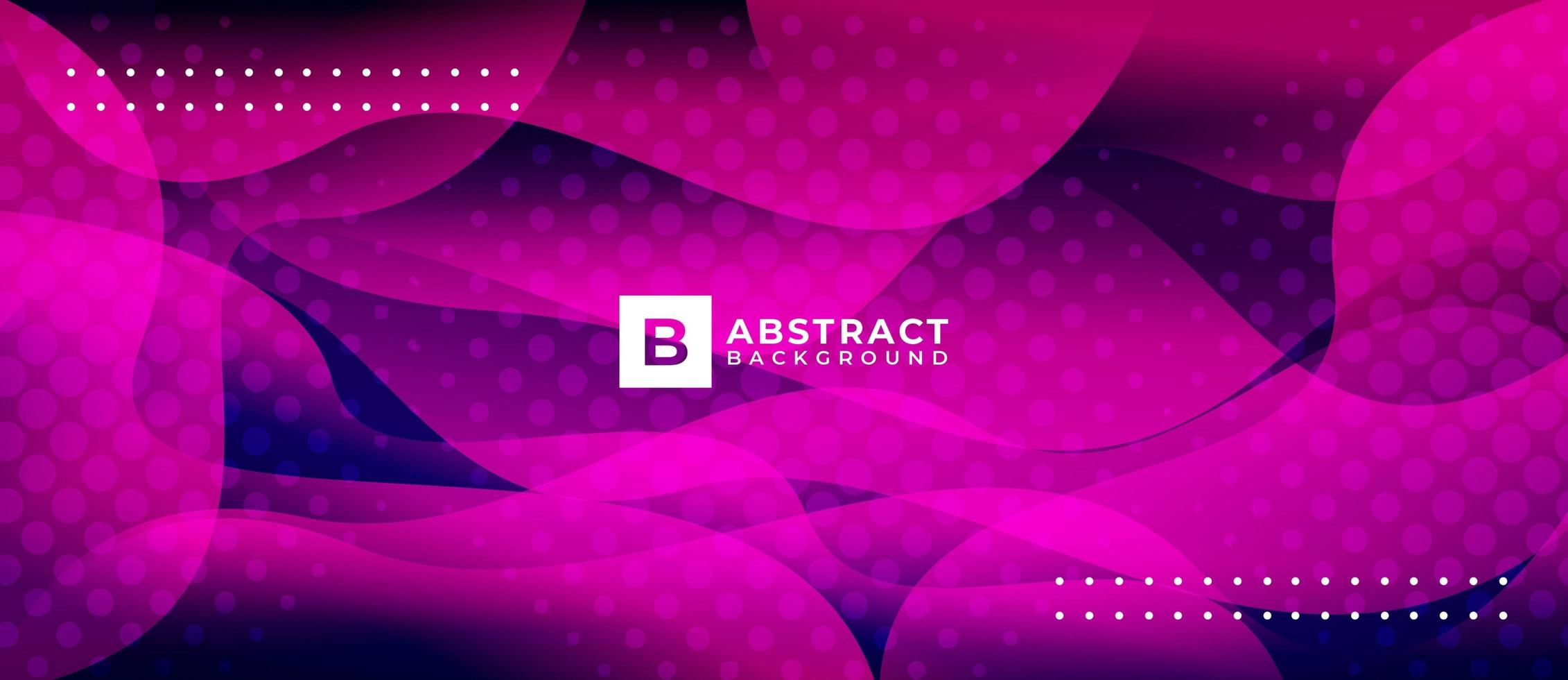 Neon Pink Curves Wave Shape Background vector