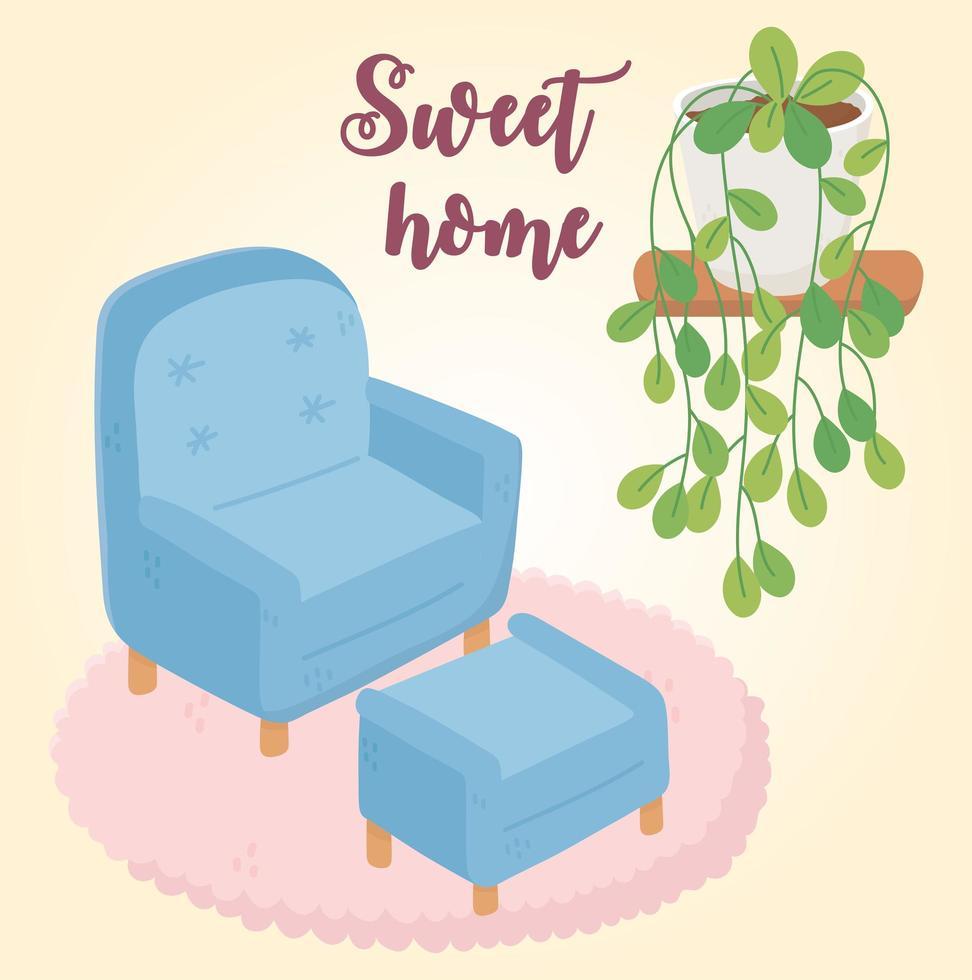 dulce hogar interior vector
