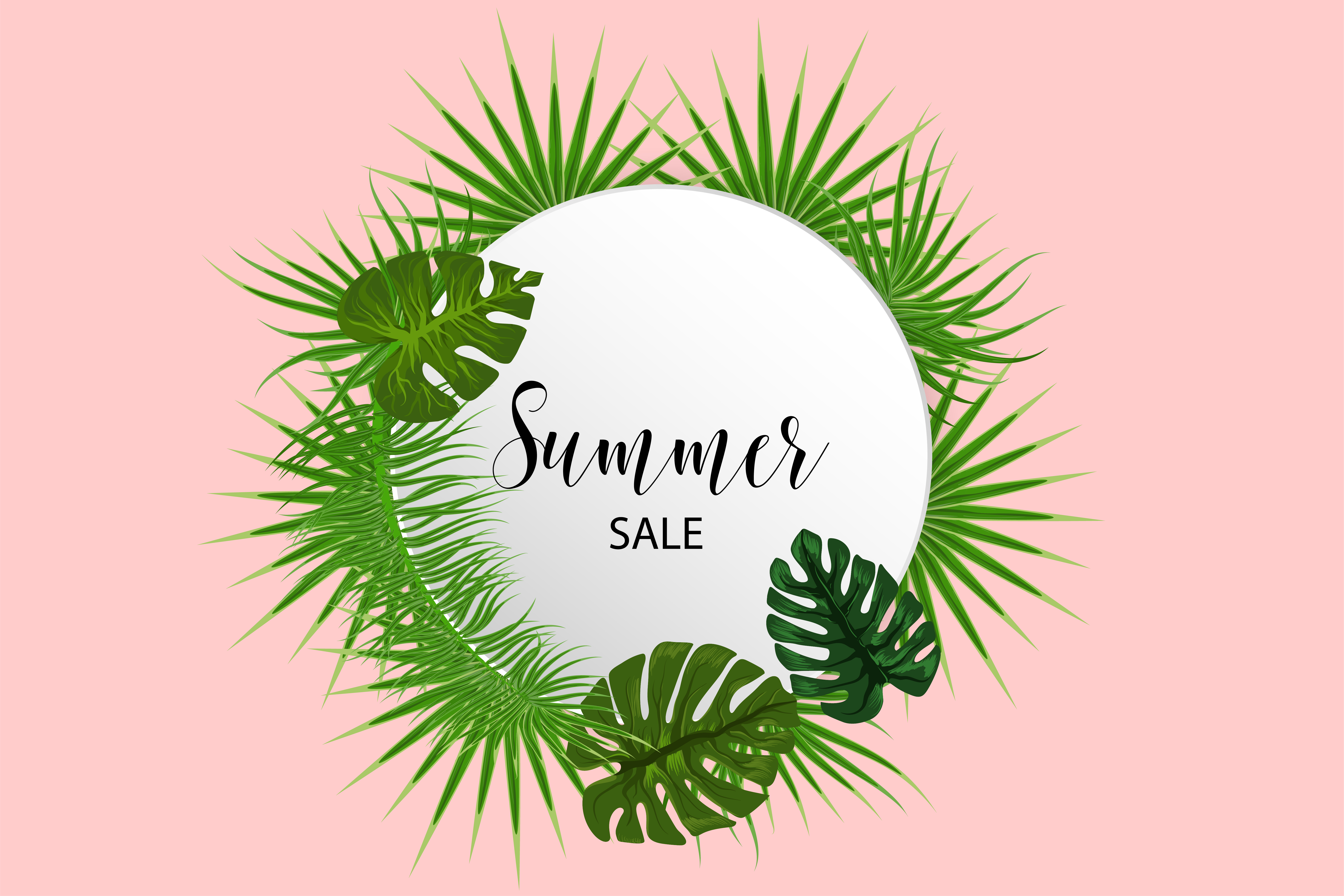 Tropical Background Palm Leaves Template Download Free Vectors Clipart Graphics Vector Art Paper tropical leaves decorations are stunningly in demand. vecteezy
