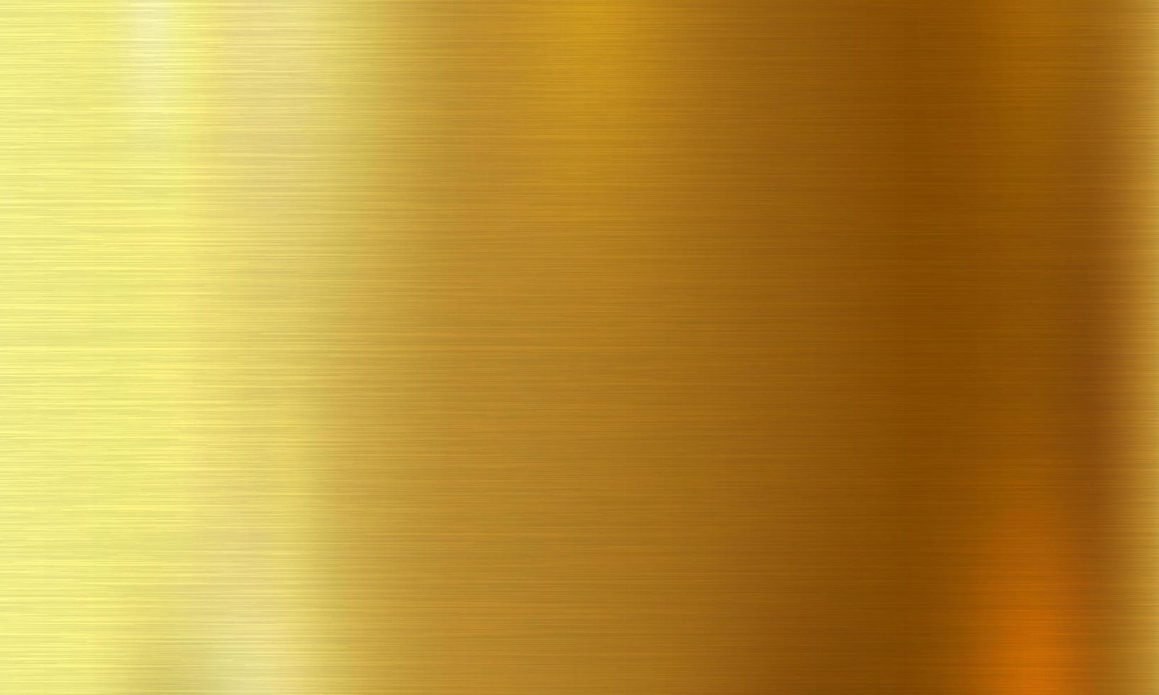 Gold brushed metal texture vector