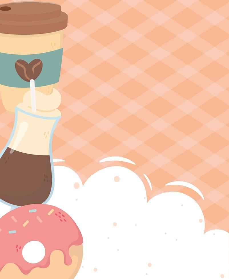 banner de composición de la hora del café vector