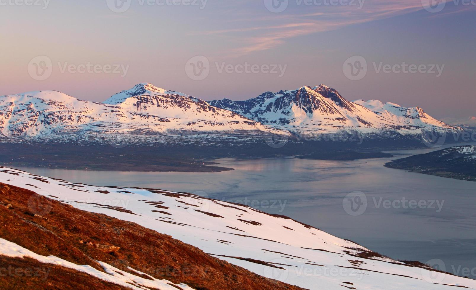 Mountain at winter in Norway, Tromso photo