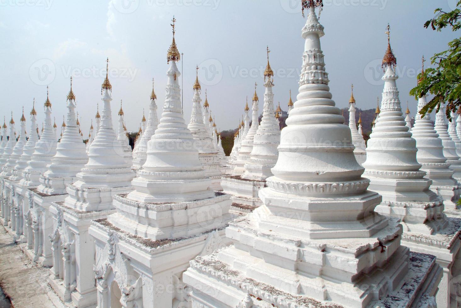 Stupas of Kuthodaw temple in Mandalay,Myanmar . photo