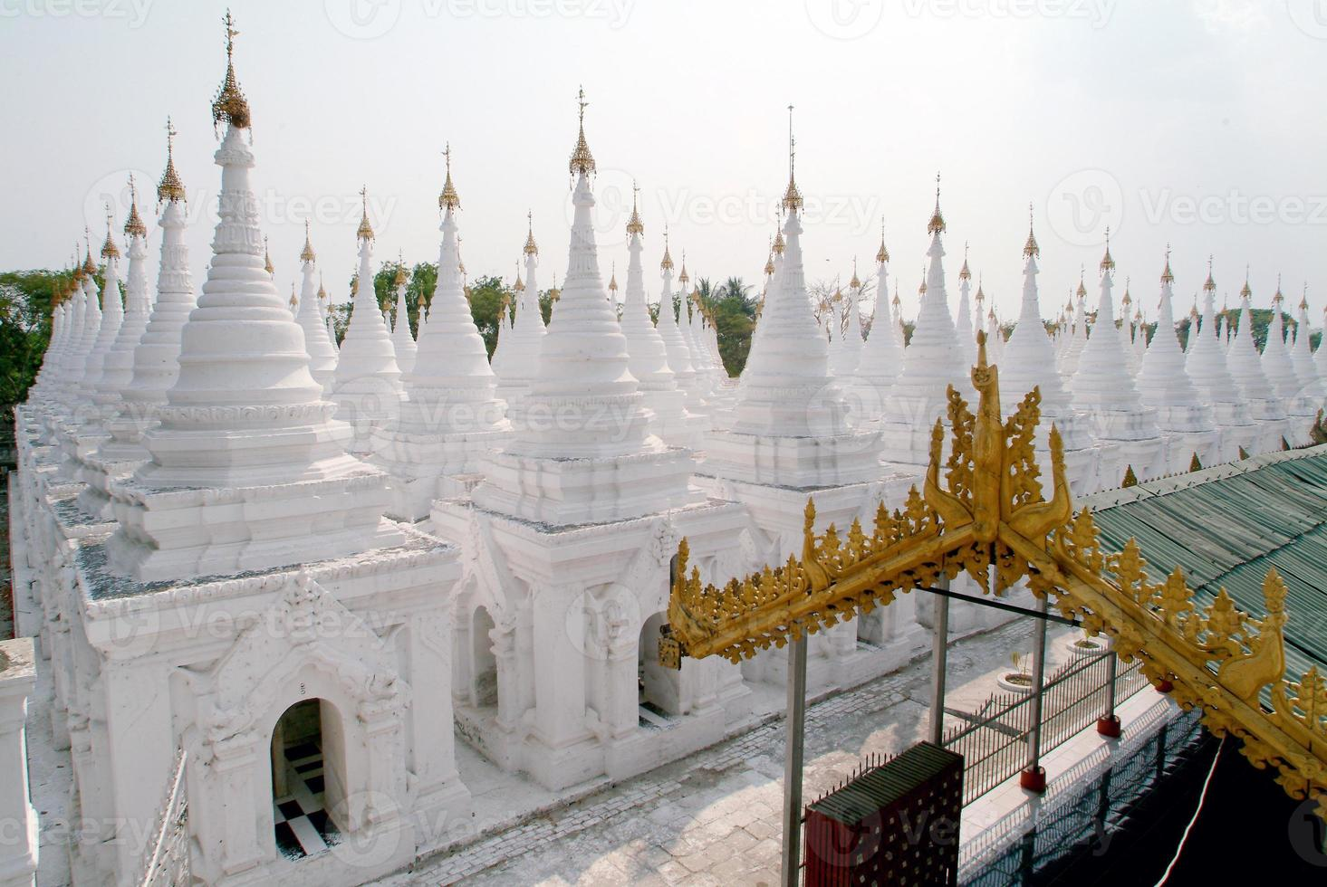 Stupas of Kuthodaw temple in Mandalay, Myanmar . photo