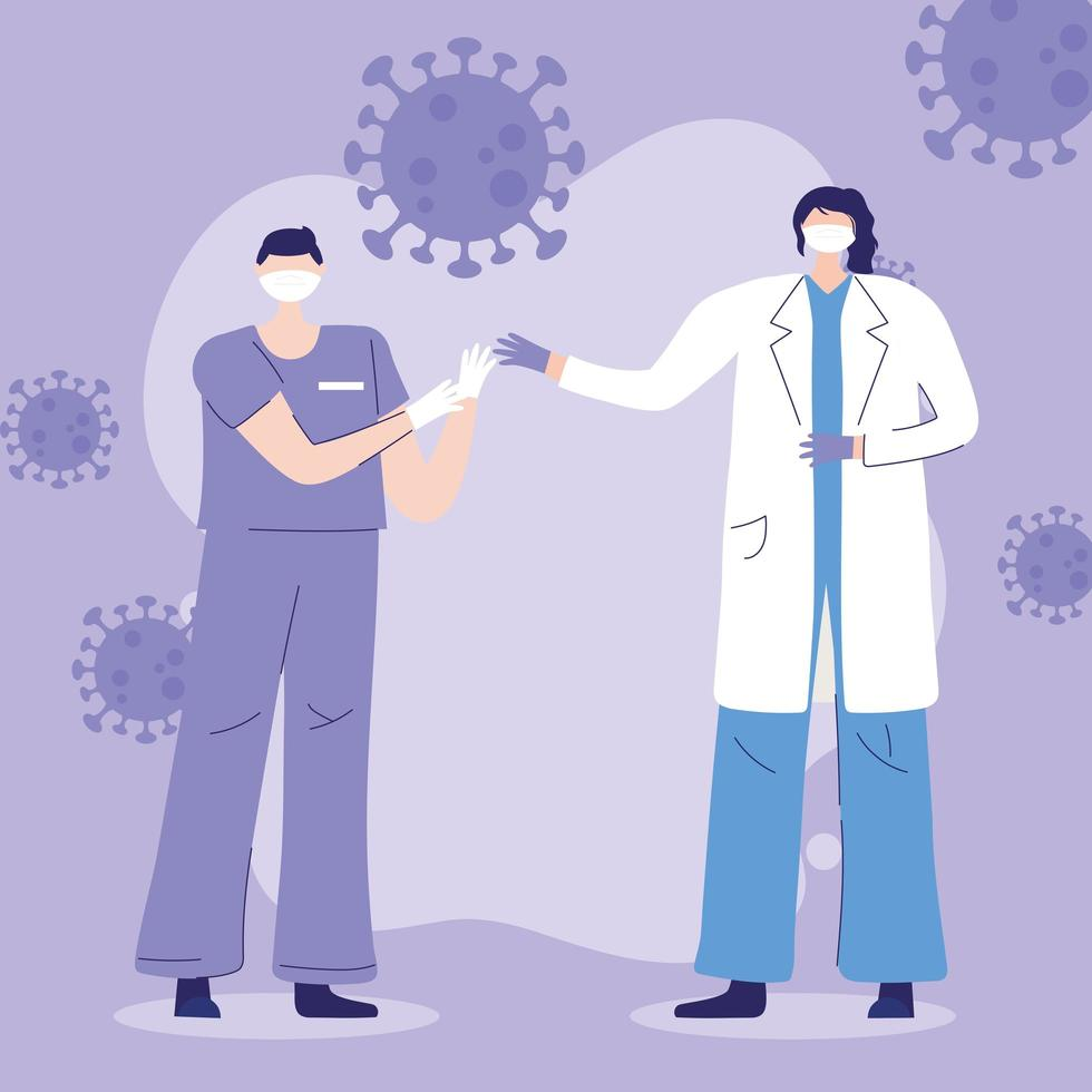 Greeting and gratitude composition for health care workers vector