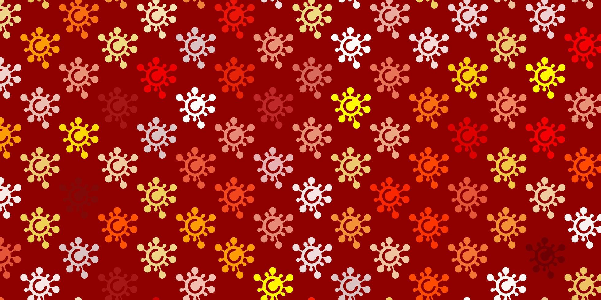 textura naranja claro con símbolos de enfermedades vector