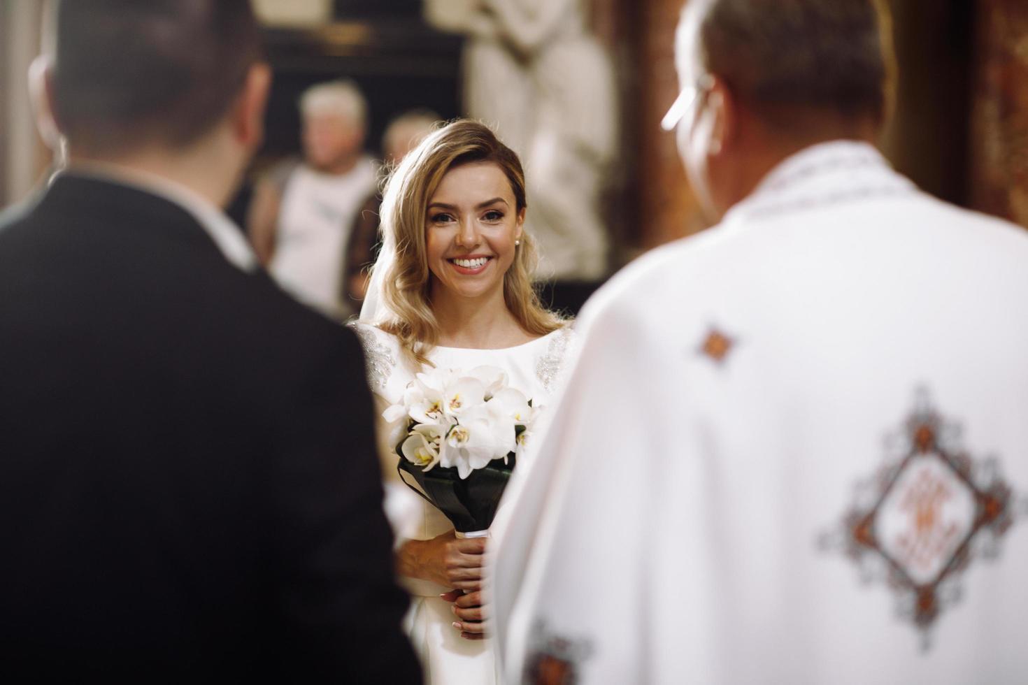 Europe, 2018 - Couple marries inside a Catholic Church. photo