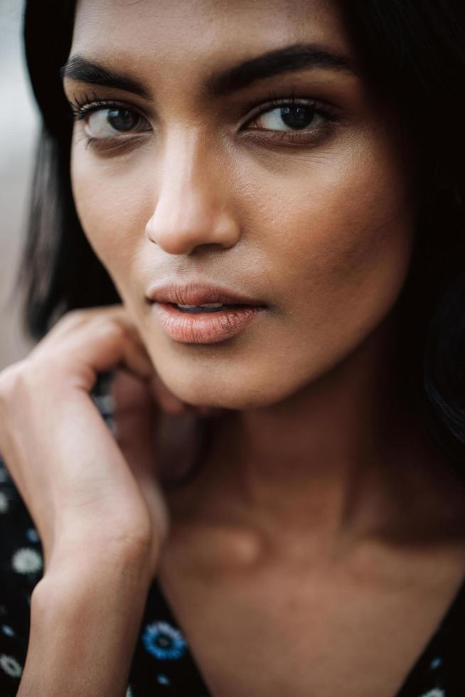 Portrait of a gorgeous Indian woman photo