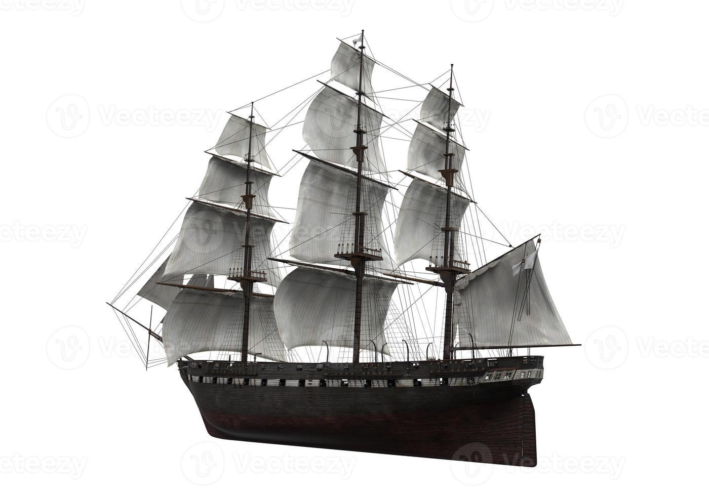 Sail Ship Isolated photo