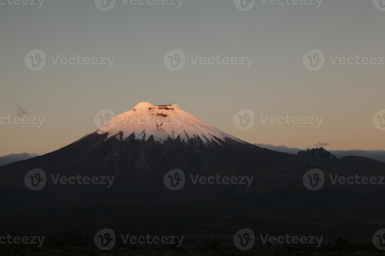 Cotopaxi and Morurco at sunset photo