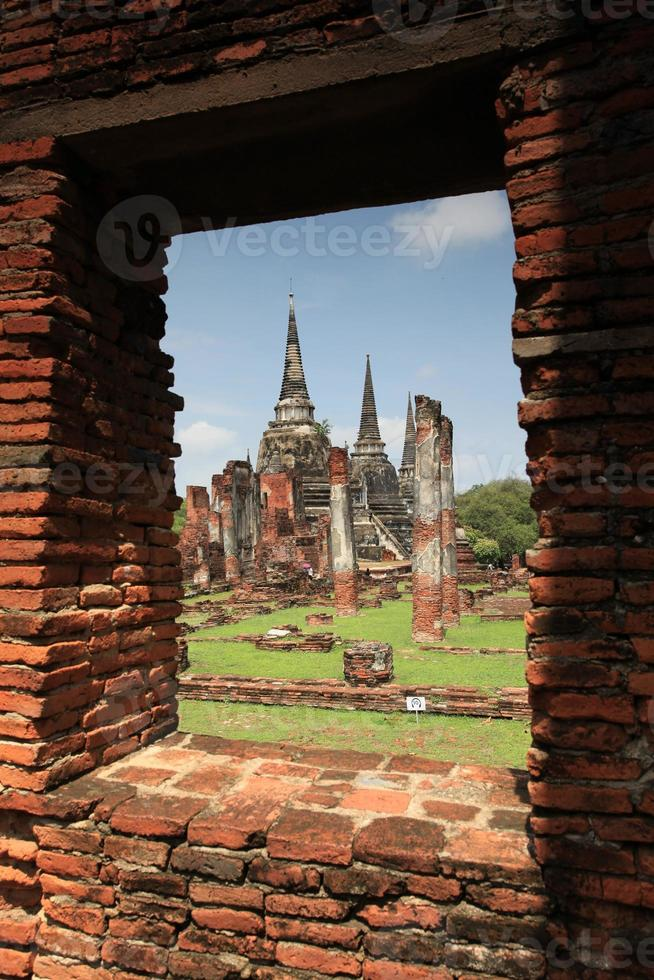 wat phra si sanphet - tailândia foto