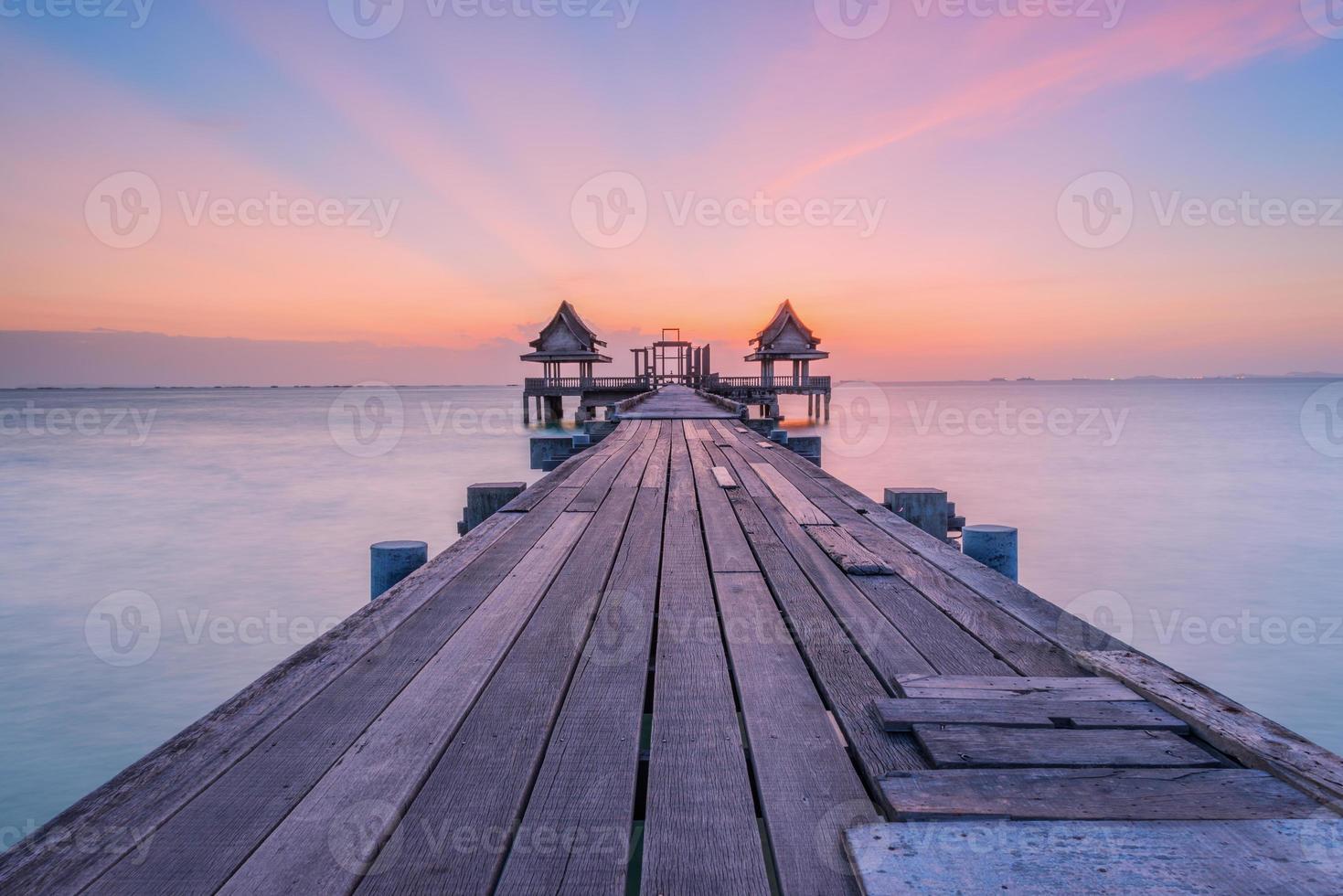 Wooded bridge photo