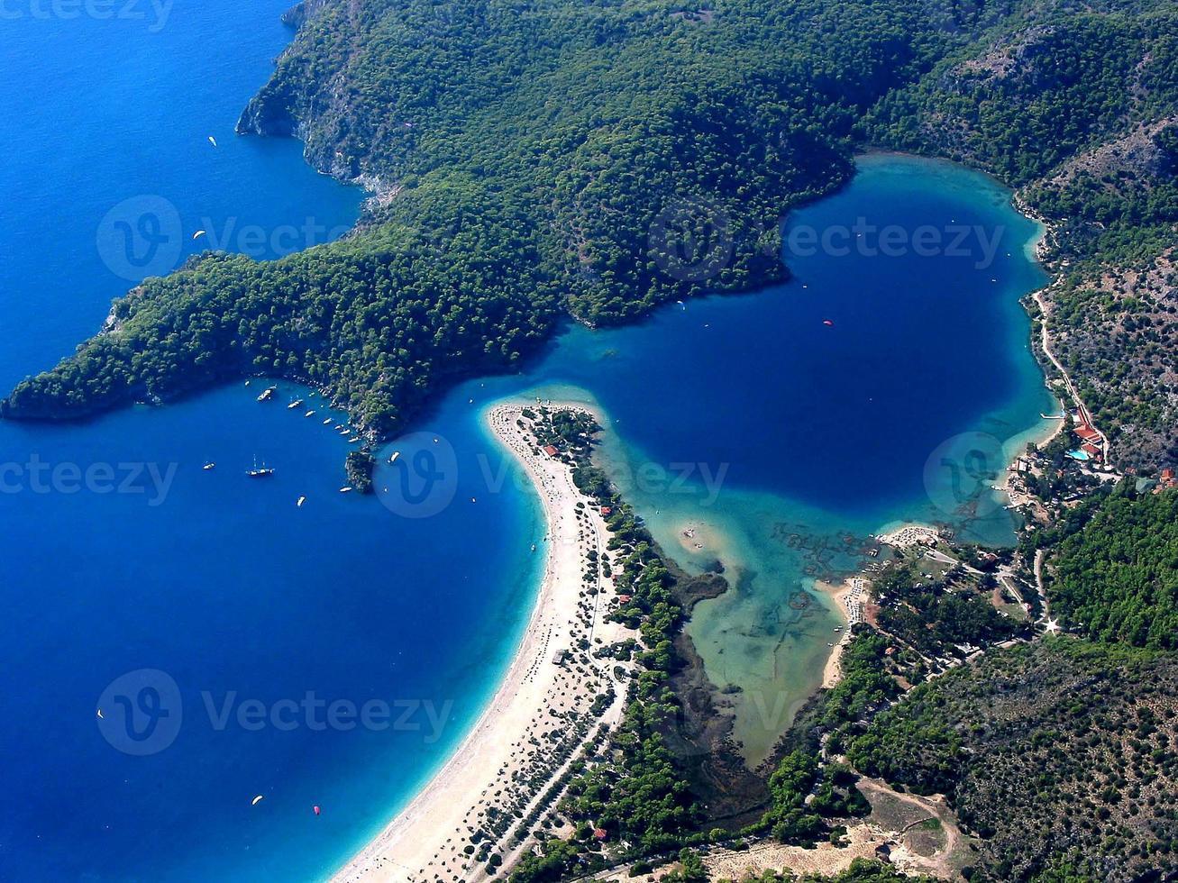 Praia de Olu Deniz Belcekiz, Turquia foto