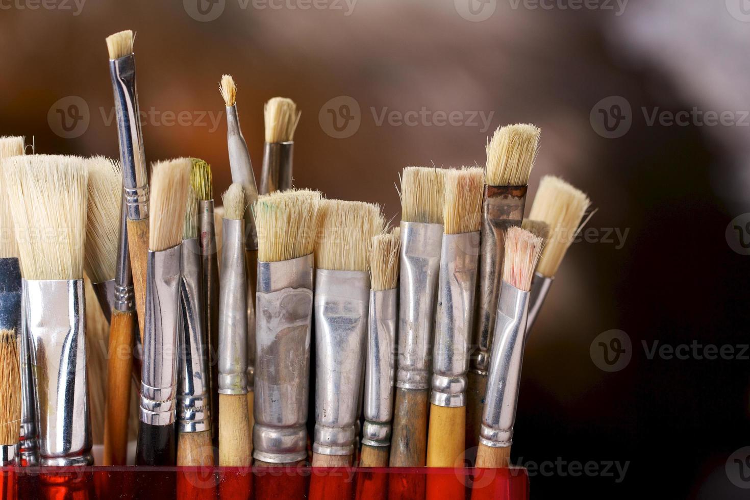 Artist's brushes photo