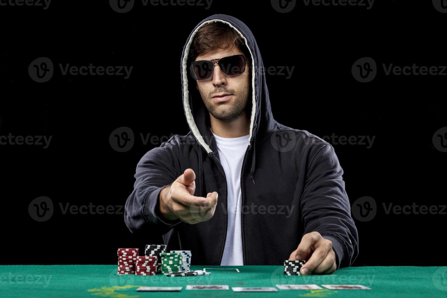 jogador de pôquer foto