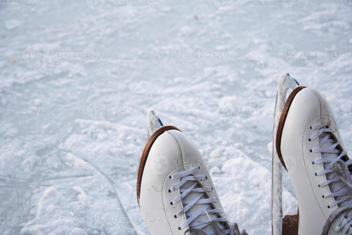 Ice skates outdoors photo