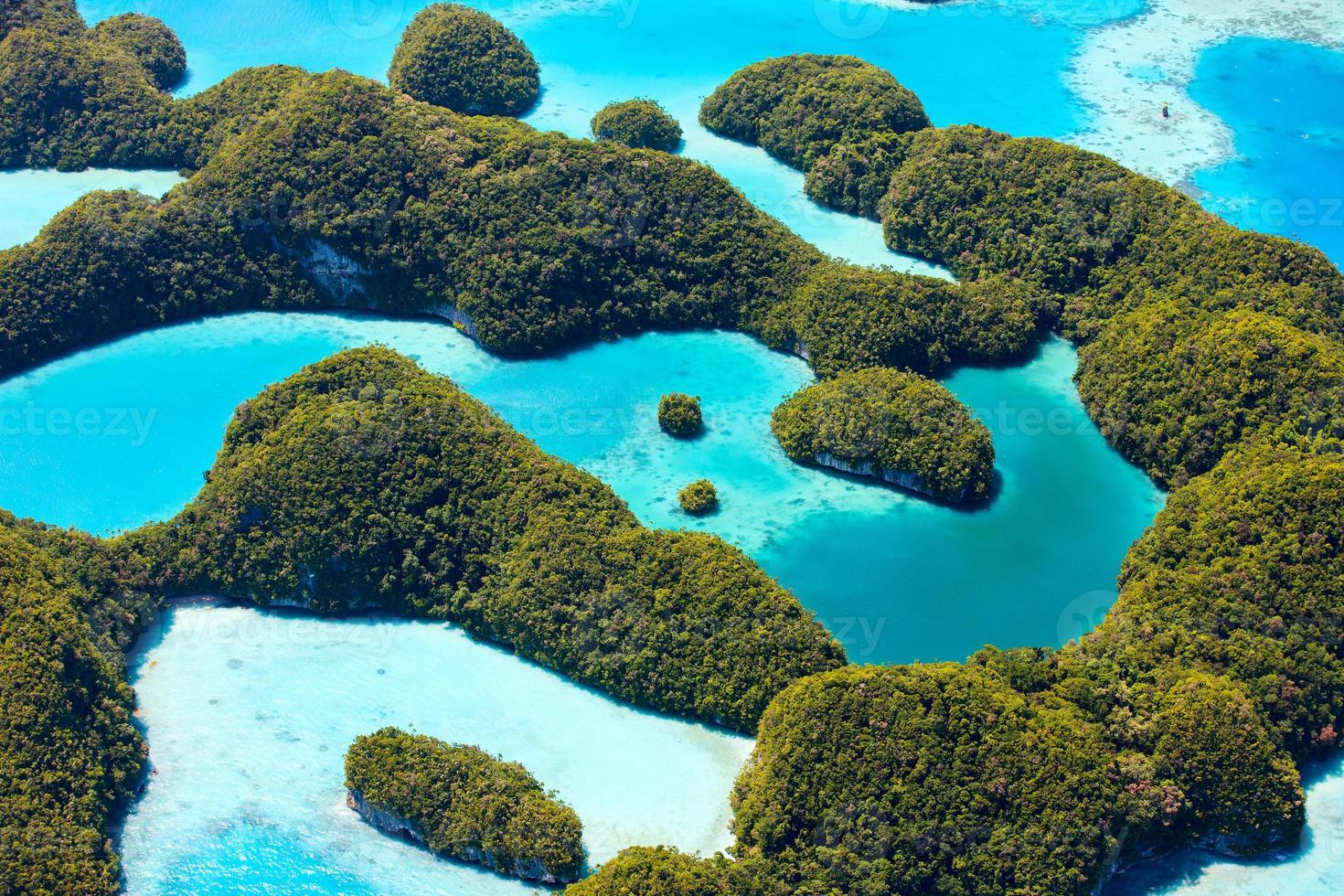 Palau islands from above photo