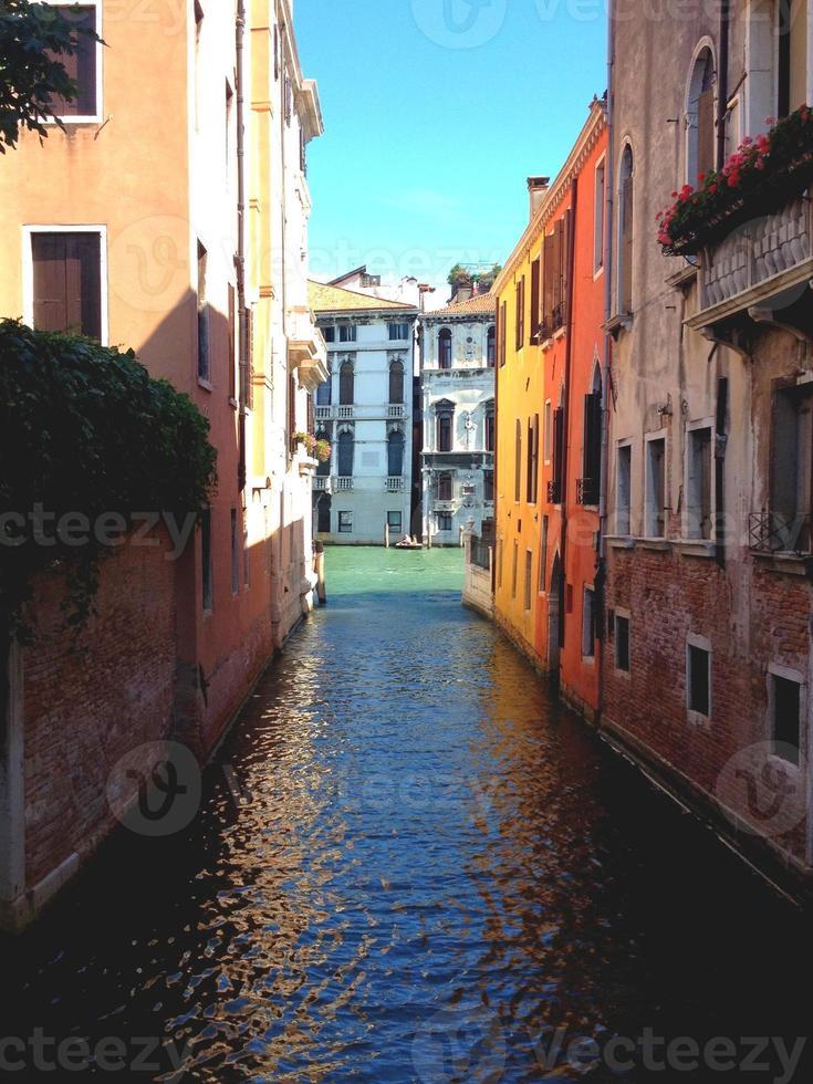 Colourful Venice Canal photo