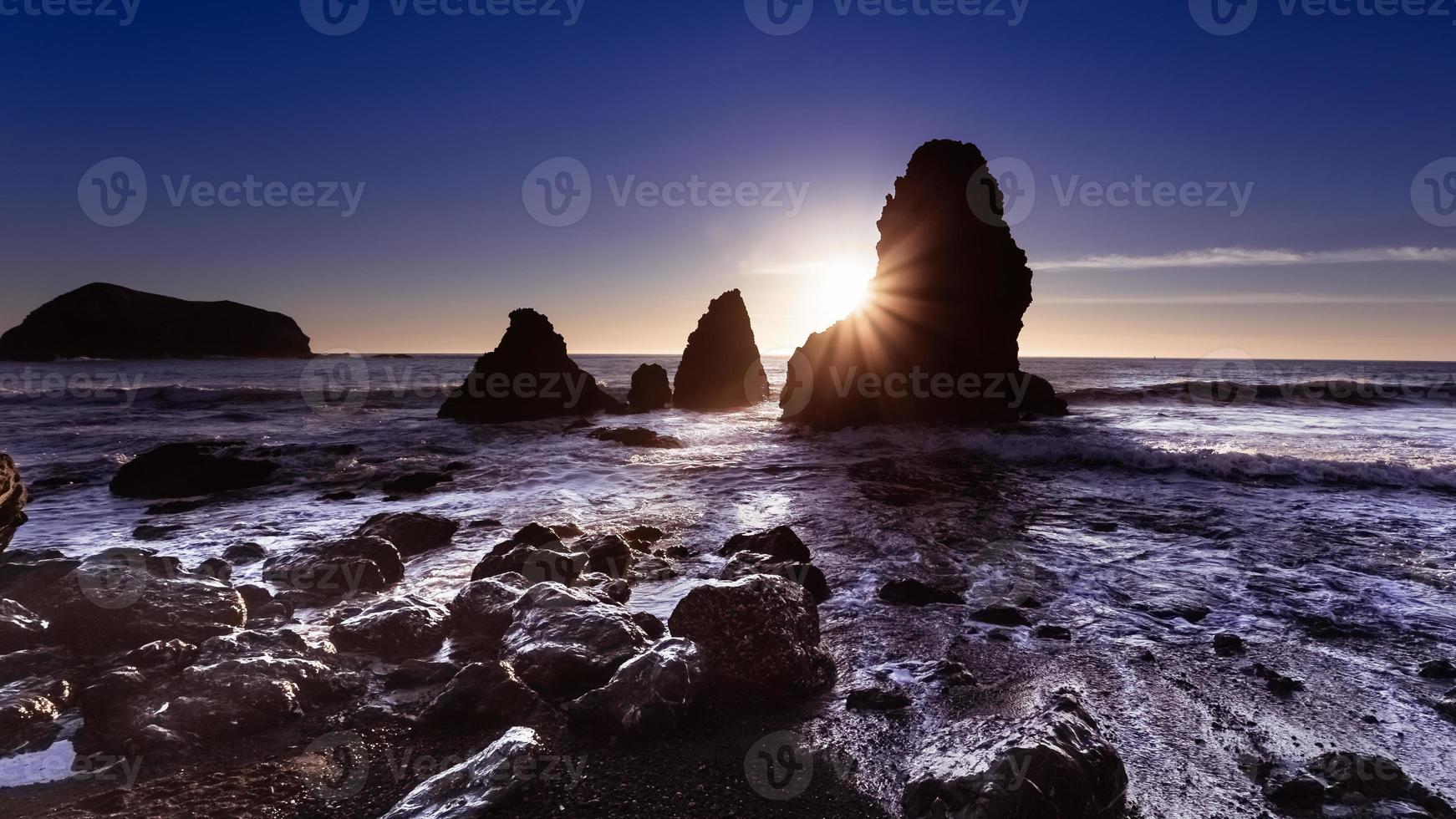 Sunset at Rodeo Beach photo